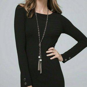White House Black Market Chain Tassel Necklace